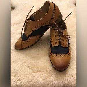 Whiskey and Navy Shoe